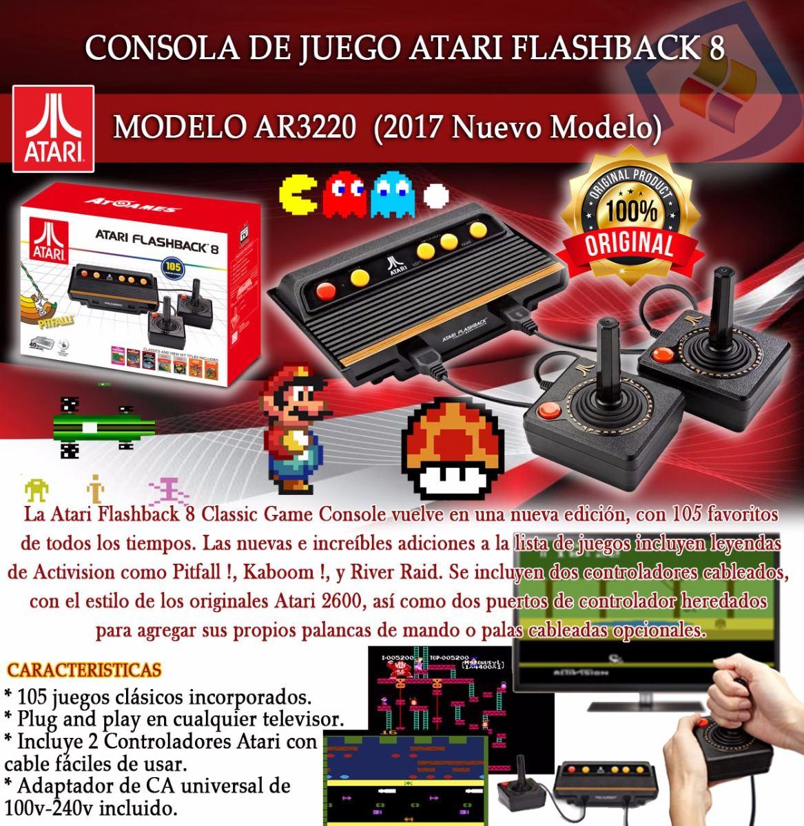 Consola Atari Flashback 8 105 Juegos 2 Controles Nintendo Bs
