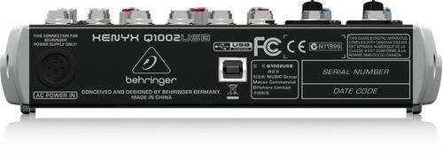 consola behringer mezcladora xenyx q1002 usb