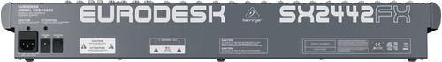 consola behringer sx2442fx-24ch-fx-eq-subs-inserts-mixer