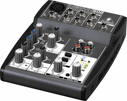consola behringer xenyx 502 con phantom power