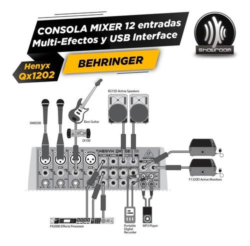 consola behringer xenyx qx1202usb 4 ch mono + 4 st + usb fx