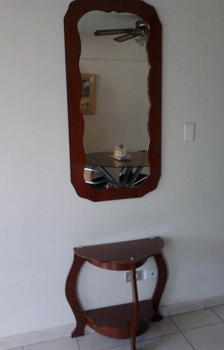 Consola con espejo de madera bs en mercado libre - Espejo de mesa ...
