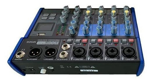 consola de 6 canales usb interface bluetooth moon audio mse6