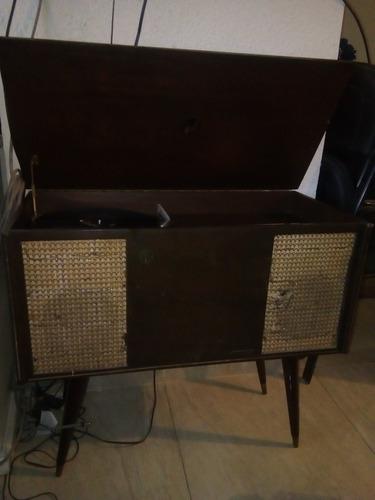 consola de discos de vinil antigua graff