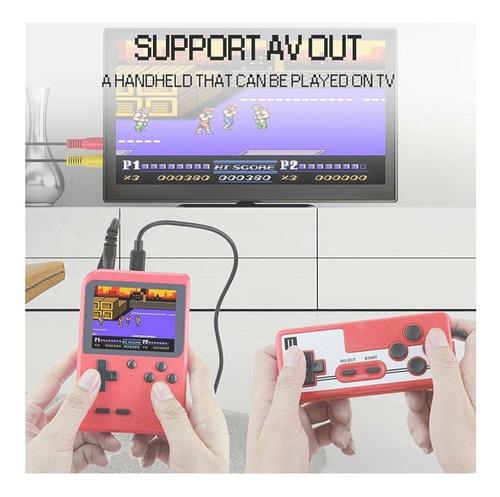 consola de juegos portátil 2 jugadores retro con 400 juegos