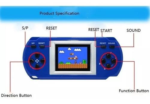 consola de juegos portatil retro 300 en 1 recargable usb