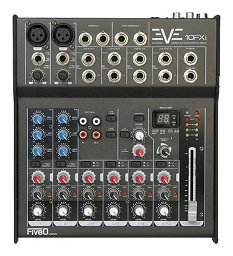 consola de mezcla analógica fiveo b y montarbo eve 10fxi