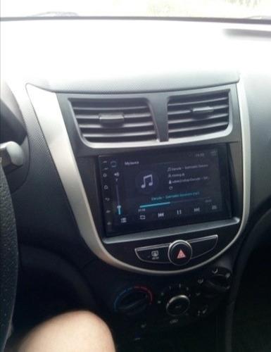 consola de radio hyundai accent 2012 al 2017 doble din 7
