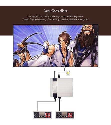 consola de videojuegos clásica con 2 mandos y 620 juegos