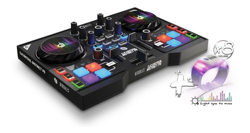 consola dj hercules controlador mixer party pack instinct p8
