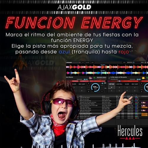 consola dj inpulse 200 hercules mixer usb pad color + placa