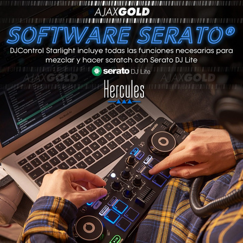 consola dj starlight controlador hercules mixer start now