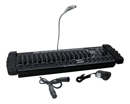 consola dmx 384 profesional 240 canales lcd efectos de luces