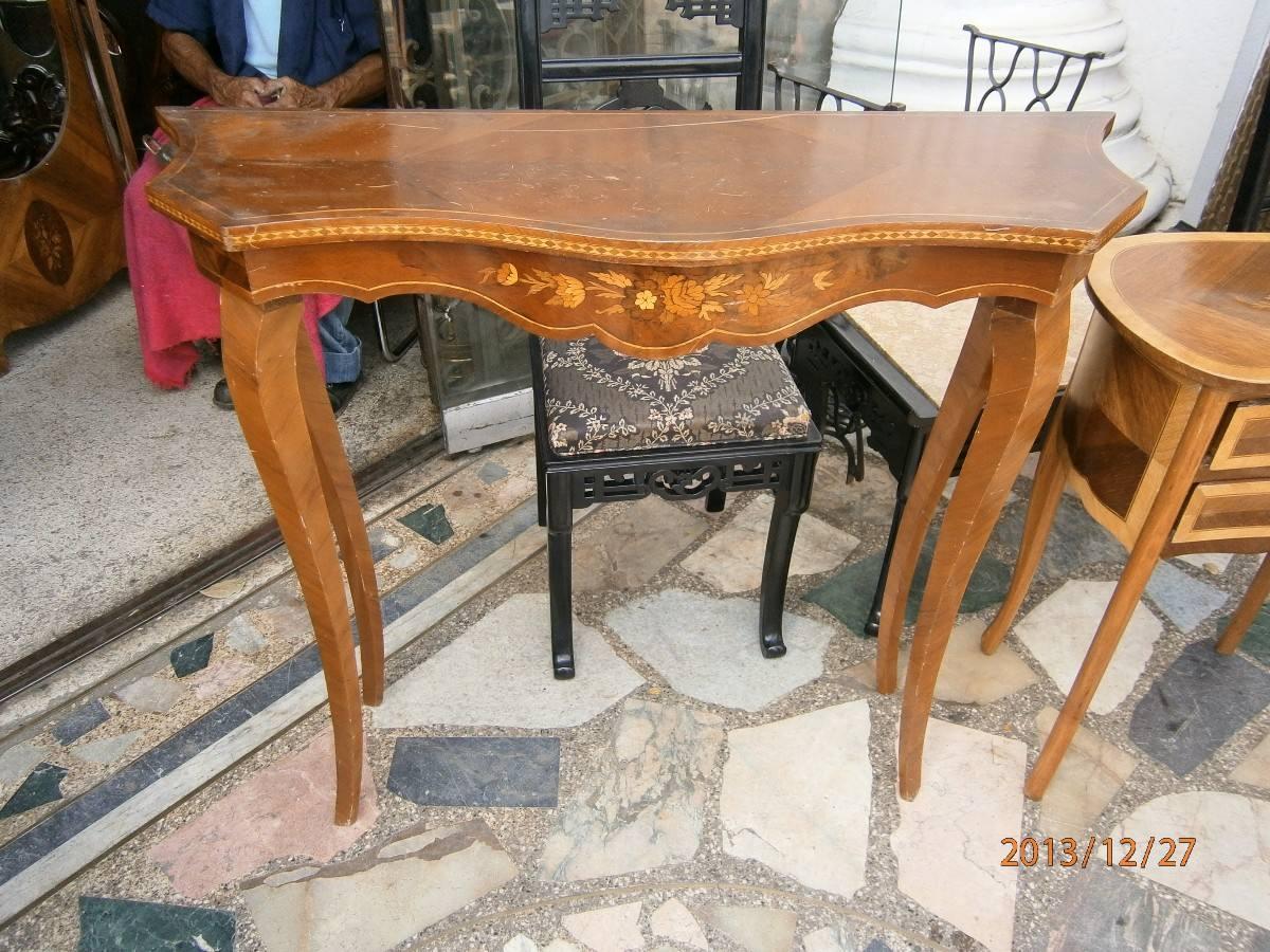 Consola en madera en mercado libre for Consolas antiguas muebles
