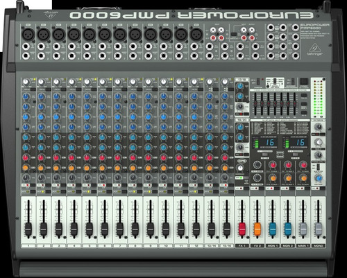 consola europower pmp 6000 1600 watts 20 canales behringer