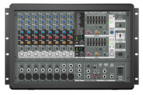 consola europower pmp 980s 900 watts 10 canales behringer