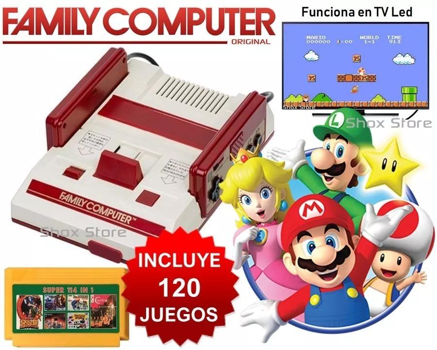 Consola Family Computer 500 Juegos Accesorios Retro Original