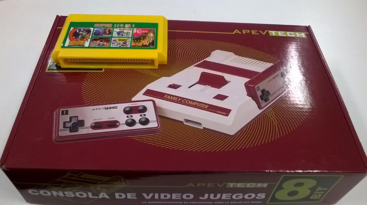 Consola Family Game Completo Cartucho De 114 Juegos 1 200 00