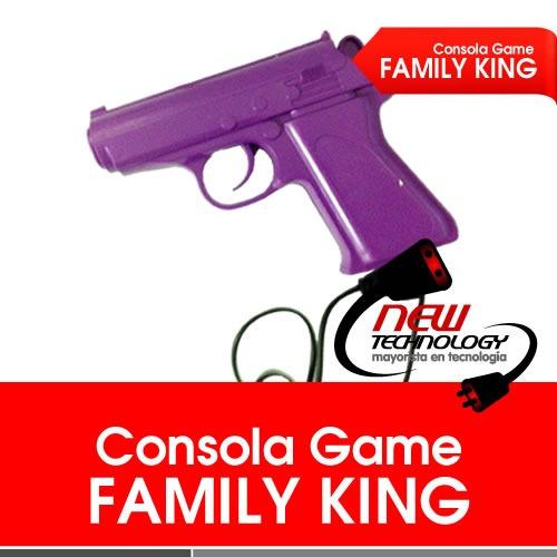 consola family king game+2joystick+pistola,9999999 en 1
