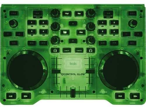 consola hercules dj glow controlador mixer fiesta audio mp3