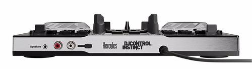 consola hercules dj instinct party + placa de sonido + luz