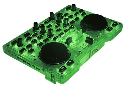 consola hercules glow dj mixer controlador mp3