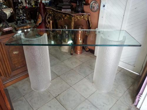 consola italiana vidrio y acrilico
