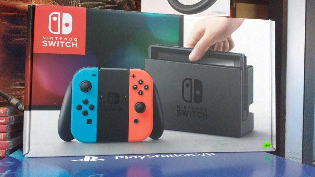 Consola Juego Nintendo Switch Red Blue Nuevo Tienda S 1 399 00