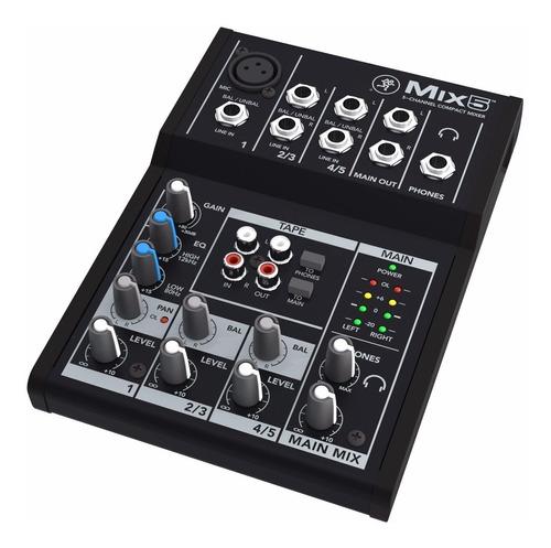 consola mackie mix5 5ch, 1mic+2 line st
