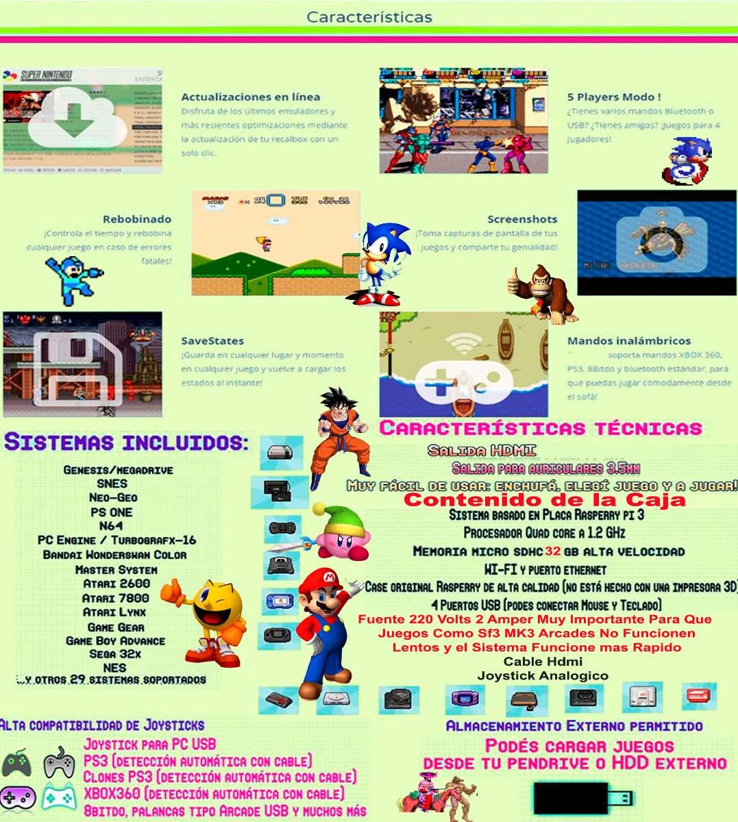 Consola Mame Arcade Dreamcast Sega Psp Snes Psx 64g-local-