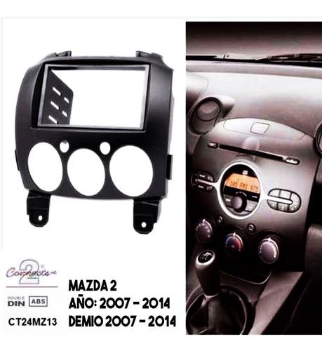consola mazda2 moldura marco radio de pantalla 2007-2014