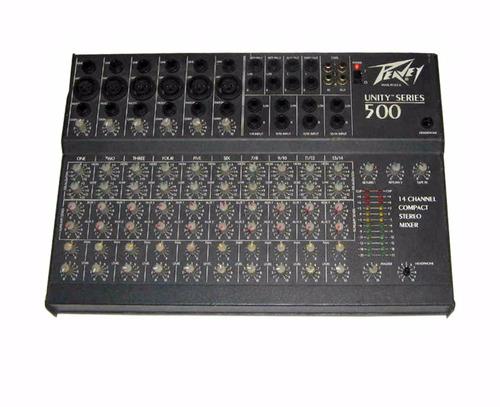 consola mezclador 14 canales peavey unity 500 series