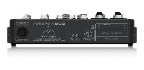 consola mezcladora behringer xenyx 802 8 canales