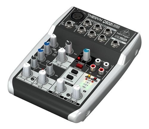 consola mezcladora behringer xenyx q502usb 5 canales