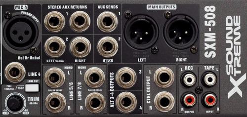 consola mezcladora de audio de 8 canales con efectos tonos