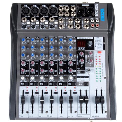 consola mezcladora de audio de 8 canales con efectos y tonos