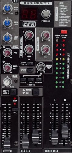 consola mezcladora de audio de 8 canales mc806 efectos moon