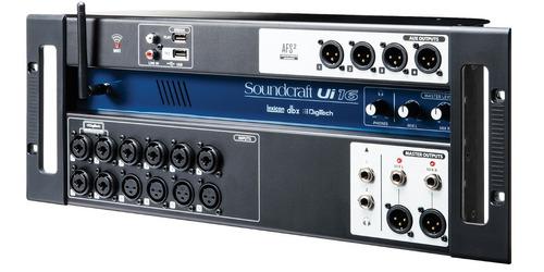 consola mezcladora digital  ui16 soundcraft + envio