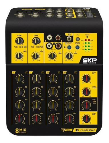 consola mezcladora skp mixconnect 8 canales usb