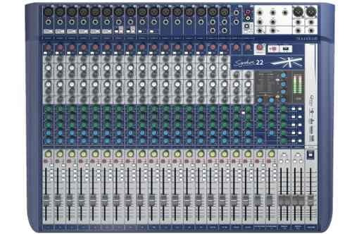 consola mezcladora soundcraft signature 22