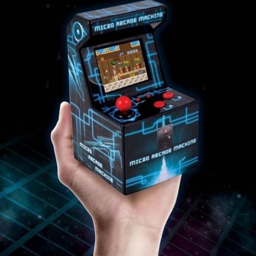 consola micro fichines arcade 200 juegos 8bit retro portatil