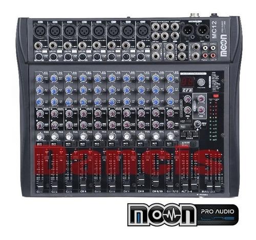 consola mixer 12 canales ecco 16 efec mic auric bluetooth