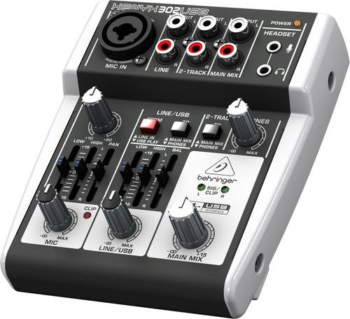 consola mixer behringer xenyx 302usb 5 canales