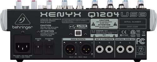 consola mixer behringer xenyx q1204usb 12 canales
