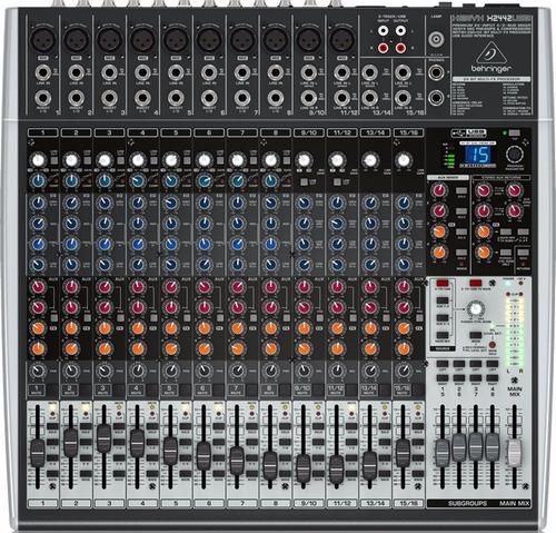 consola mixer behringer xenyx x2442 usb 24 canales compresor