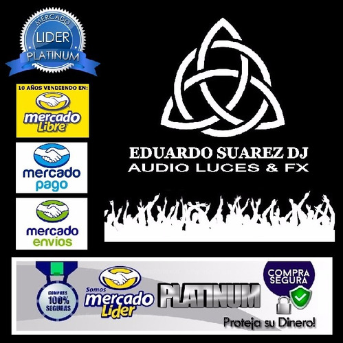 consola mixer dj moon mdj206 2 canales 7 entradas  esdj