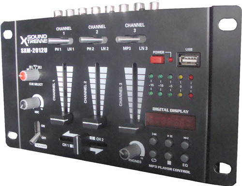 consola mixer entradas usb auxiliar microfono grabaciones