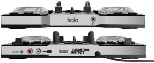 consola mixer hercules dj instinct + placa + luz led usb