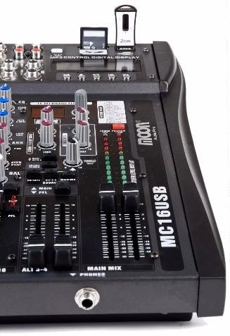 consola mixer moon mc16usb 16 canales usb-sd- efectos