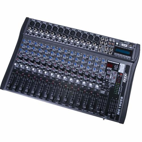 consola mixer moon mc16usb 16canales usb sd efecto grabacion